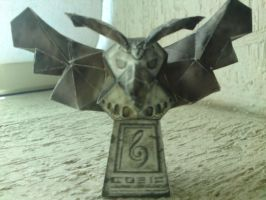 papercraft owl statue by nochena