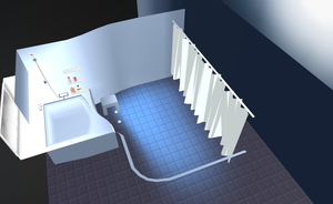 MMD Bathroom stage by amiamy111