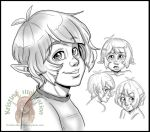 Luka head sketches by NatsumeWolf