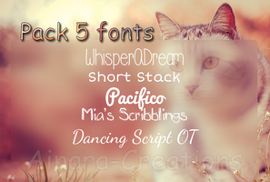 5 Fonts Pack||Recopilation.zip by Ainara-Creations
