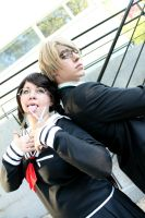 Dangan Ronpa Cosplay - Fukawa and Togami. by emitatufan