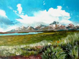Grand Teton Range-far by flyingGOPHER