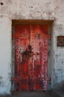 Old Red Door by Deirdre-T