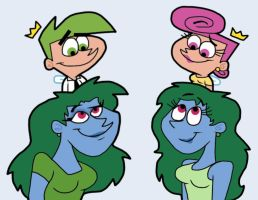Cosmo and Wanda with New Friends by Cookie-Lovey