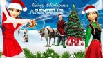 Frozen - 1920x1080 (Merry Christmas Arendelle) by CoGraphiC