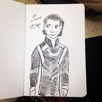 Quick Loki Pen Sketch by AbbyCatWolff
