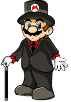 Mario Looking Fancy by MissLink8908