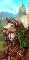Blasckmoon, Tauren Druid by OceansAndrew