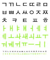 Korean Hangul Alphabet by sternradio7