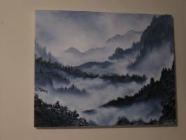 Misty Mountains by crazycolleeny