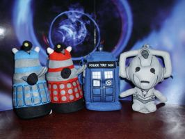 Doctor Who Clip Plushies by CyberDrone