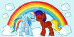 Rainbow Dash and my Pony kiss by MrDragonboy96