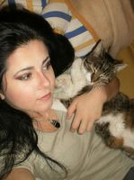 the cat and me :P by HSabina