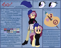 Lannie Lona Reference Sheet by SJArt117