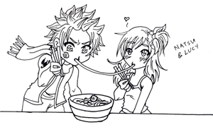 FT: Natsu + Lucy by elfgrove