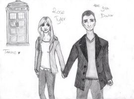 Rose and 9th Doctor by rup-ano-ni