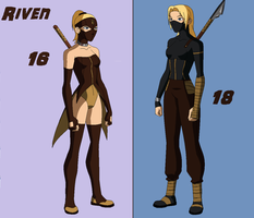 Riven: Young Vs Old by WickedCurlyFeather