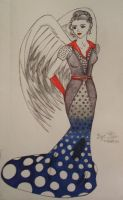 Spotted Evening Gown by XpresslifeTifa
