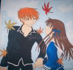 Kyo and Tohru by greenlilly444