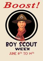 Boy Scout Week Poster by PrincessBloodyMary