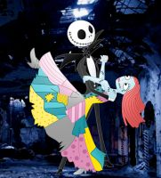Art trade: Jack and Sally Ballroom dance by Willemijn1991