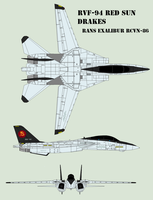 RVF-94 Red Sun Drakes F-14D by Zhanrae30