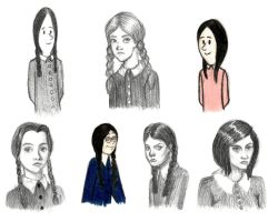 The Evolution of Wednesday Friday Addams by DisneyWiz