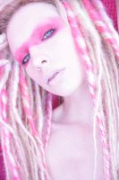 pink dread stock 4 by LadyStarDustxx