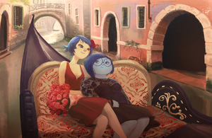 Joy x Sadness: gondola date by catharticaagh