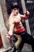 Gold Dragon Power.  Marshall Law - Tekken Cosplay by LeonChiroCosplayArt
