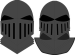 Medival Dark Knight Helmets by JMK-Prime