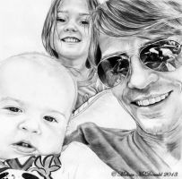 Family portrait of Charlie Baker and kids by mellimac