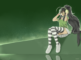 Commission 1 : The Beauty of Green by Hews-HacK