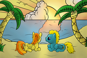 Flysymphony and Stunning_Spitfire on the Beach by Nyax