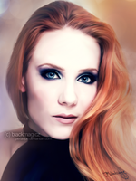 Simone Simons Painting by perlaque