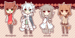 ADOPTABLES3 all taken! by niaro