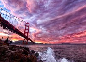 storm of fire, Golden Gate by alierturk