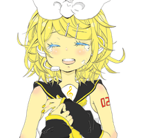 Rin Kagamine lineart coloring practice by w546