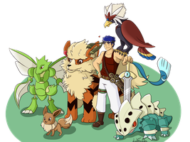 IKE - Pokemon Team - by LeahFoxDen