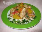 Chicken with mango and pineapple by DanutzaP
