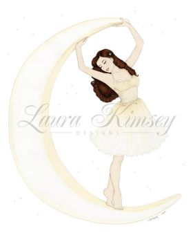 Holiday Pinup: Moonglow by laurakimseydesigns
