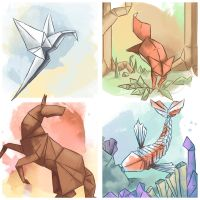 The Elements of Origami by GoldenLionofRa