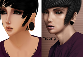 Before and after - premade 31 by Evolemon