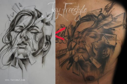 From paper to skin by Tattoo-J