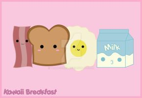 Kawaii breakfast by thnogones