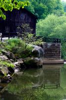 Mill and Stream In-Frame - Mill and Dam Edge by wetdryvac