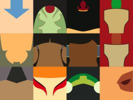 Avatar: The Last Airbender Minimalist Tiles by T-Jumblr
