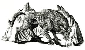 Wild Warg by WretchedSpawn2012