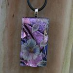 Violet Blossoms Fused Glass by FusedElegance