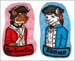 Meezer and Shane Badges by silverwing